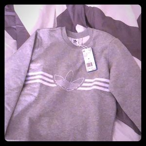 NEW Adidas grey juniors size medium pullover